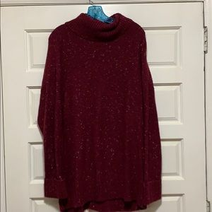 Maroon speckled sweater